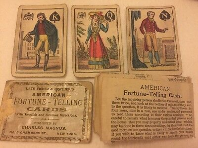 Antique Tarot deck. 1887 American Fortune-Telling Cards. Very Rear. complete