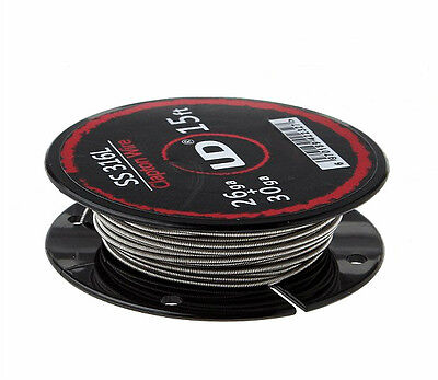 316 Stainless Steel Clapton Resistance Wire - 5 Metre Spool