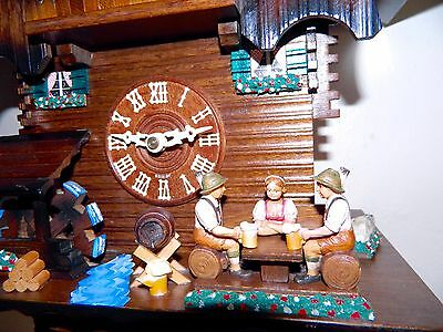 **highly Collectable Musical Full Animaded  Black Forest Germany Cuckoo Clock**