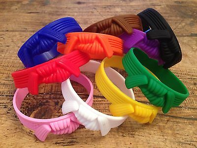 Karate Wristbands All Colours Judo Tkd Jiujitsu Kickboxing Yellow Band