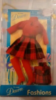 Dawn Doll Mad Mod Plaid Outfit Checkerboard 2002 NIB New Red Top Boots Purse