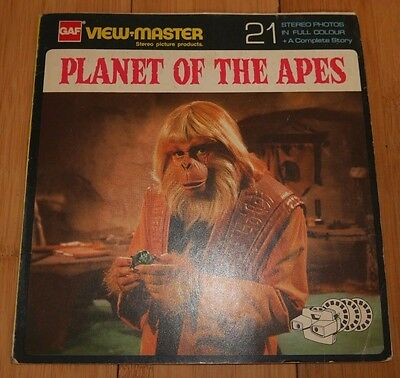 Vintage Planet Of The Apes 1967 Large Gaf Viewmaster Reels Set Nb 507 Rare