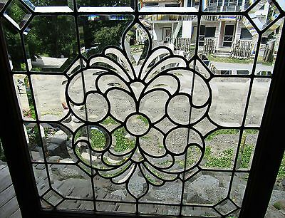 Fancy Victorian Square Beveled Glass Window