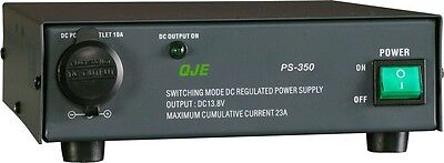 QJE PS23SWI 23a 12v (13.3-14.5 VDC) Switch Mode Fan Cooled Power Supply with Cig