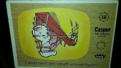 Halloween vintage casper ghost trading card squirrel ephemera collectibles
