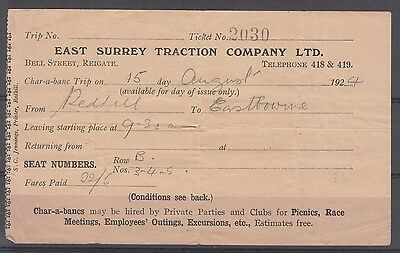 trains East Surrey Traction Company LTD ticked 1924
