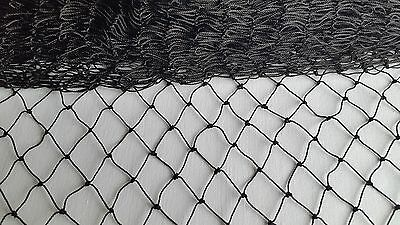 Black Garden Netting 18 x 18mm Mesh Anti Bird Plant Pond Net Protection 5m Width