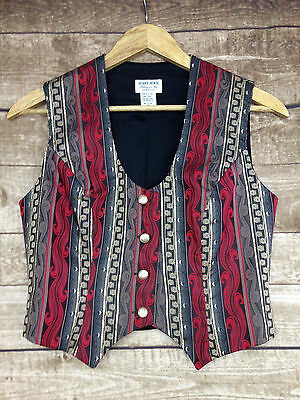 Hobby Horse Show Clothing Western Vest Gold Red Ladies Size Petite