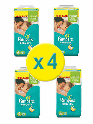 480 Couches Pampers Baby Dry Maxi *GIGA*  Taille 4,   7-18 Kgs  - Nouveau