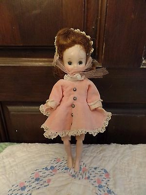 "Vintage Betsy McCall  Doll 8"" with Vogue Doll Dress Knees Bend"