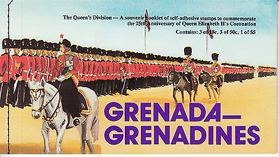 Uniforms Army Grenada Grenadines booklet with 7 self adhesive stamps