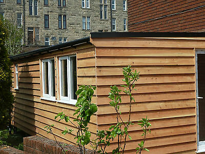 Log cabin with en-suite HUGE!  from  £550m2  ( per square metre )