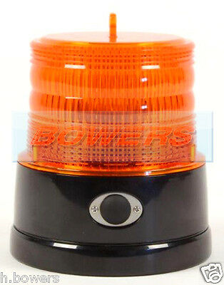Britax Portable Led Amber/orange Strobe Beacon Battery Powered Magnetic Flashing