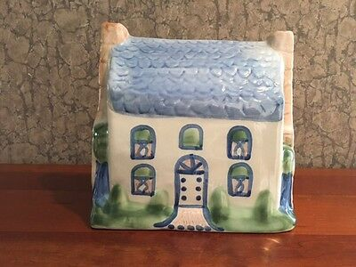 """M.A. Hadley Pottery ~ large figural HOUSE ~ 8"""" high x 8"""" wide x 5"""" deep"""