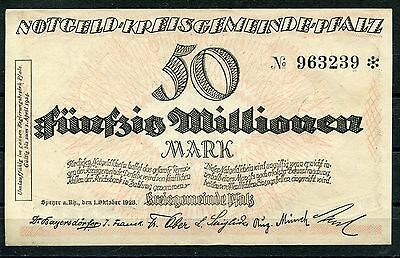 Speyer 50 Millionen Mark Notgeld ( I )