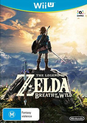 The Legend of Zelda Breath of the Wild Wii U Game NEW