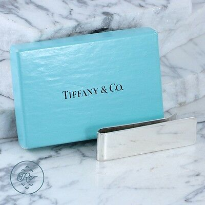 Sterling Silver - TIFFANY & CO Engravable Bar - Money Clip Mens
