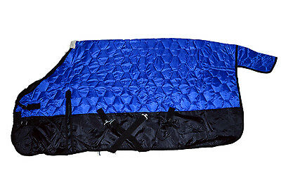 """420D Quilted Winter Horse Stable Blanket Medium Weight-Royal Blue, 74"""" - 82"""""""