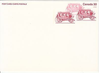 Diligence Stage Coach Canada postal stationary 30 ct  Voitures Coches