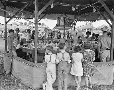 Louisiana Fair Kids at Midway Game 8x10 Reprint Of 1930s Old Photo