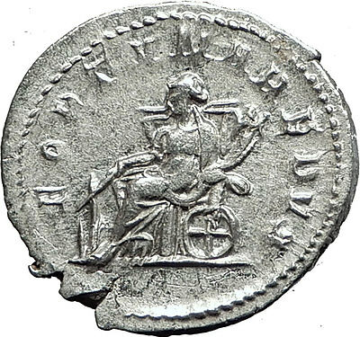 GORDIAN III 243AD Authentic Genuine Ancient Silver Roman Coin Fortuna i59059