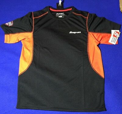 Snap On PERFORMANCE ELEMENT BODY SHIELD S/S Shirt Large L Black Orange Red NEW