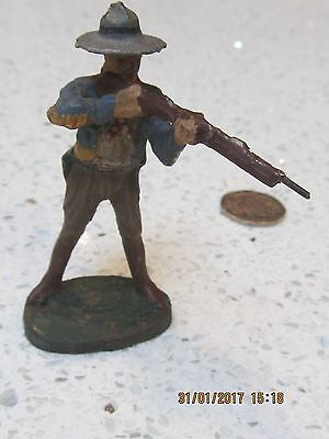 Elastolin 1920 COWBOY TAKING AIM WITH GUN - EXC. ALL ORIGINAL