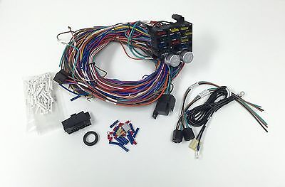 12 circuit 14 fuse universal street rod wiring harness us made universal 12v 24 circuit 12 fuse wiring harness wire kit v8 rat hot rod gm