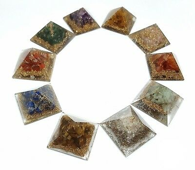 1 x Orgone Pyramid Crystal Gemstone Healing Reiki Genuine UK Seller.