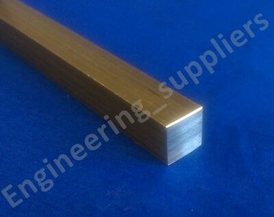 """3/8"""" (9.5mm) Brass Square Bar Various Lengths - 50mm to 600mm long"""
