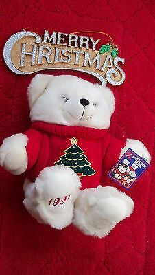 1997 Kmart Christmas Teddy Bear Red With Tags