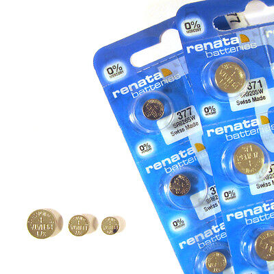 Renata Watch Batteries 1.5V Silver Oxide Swiss Made ( Any Size )