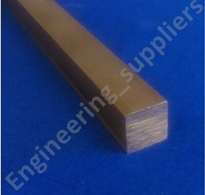 """Brass 1/2"""" Square Solid Bar (CZ121) Various Lengths - 50mm to 600mm long"""