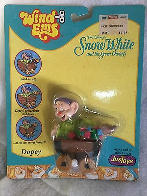 "DOPEY Disney Snow White and the Seven Dwarfs ""Wind Ems"" Toy Figure NIB"