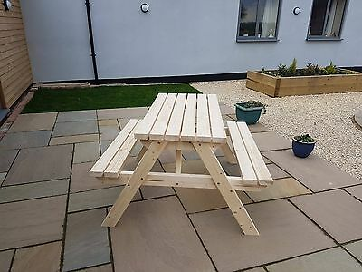 CLASSIC Picnic Table Bench - 4FT - Hand Made Outdoor Furniture From Wood