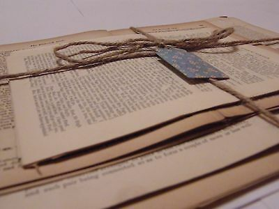 50 Vintage Book Pages for Craft/Scrapbooking, inc Shakespeare, Dickens etc