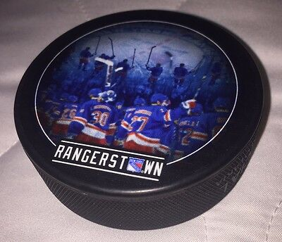 New York Rangers NHL Ice Hockey Puck Limited Edition Rangerstown Official MSG