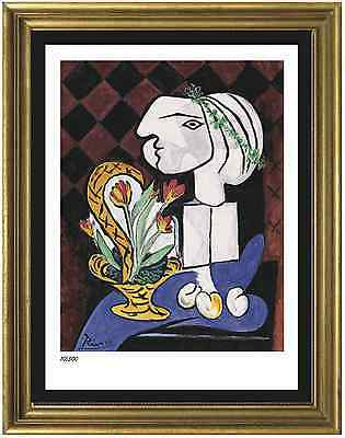 "Pablo Picasso Signed/Hand-Numbered Ltd Ed ""Still Life w Tulips"" Print (unframed)"