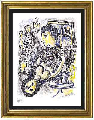 "Marc Chagall Signed/Hand-Numbered Ltd Edition ""Happiness"" Litho Print (unframed)"