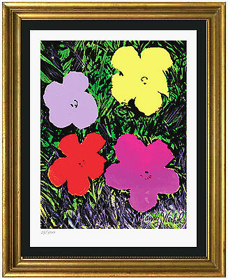 """Limited Edition """"Flowers"""" Lithograph Print by Warhol Signed & Hand-Numbered"""