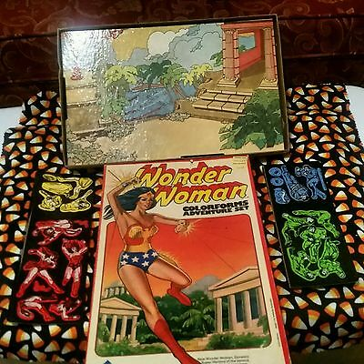 Vintage Wonder Woman 1975 Colorforms Justice League Superfriends Collectible