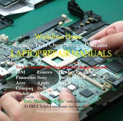 DVD - Work From Home - Laptop Repairs - 100's of Service Manuals