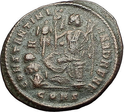 CONSTANTINE I the GREAT victory over LICINIUS 327AD Ancient Roman Coin i58361