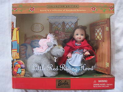 Barbie Kelly Little Red Riding Hood and Wolf .