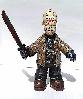 homer simpson parody friday the 13th,  jason voorhees, mexican toy resin