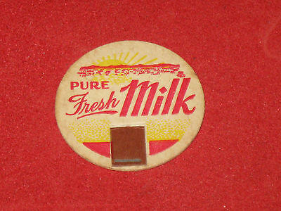 Pure Fresh Milk Top Dairy paper cap Lid Vintage Collectible - FREE SHIPPING