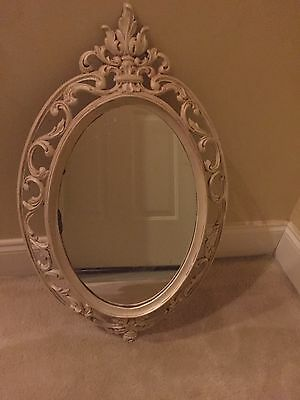 Syroco Vintage Scroll White Vanity Mirror