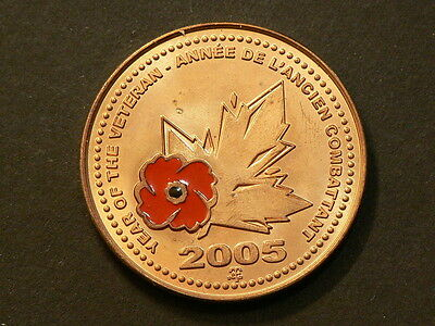 Canada  2005, Year Of The Veteran Medal, Legion Poppy Bronze Medal #4876