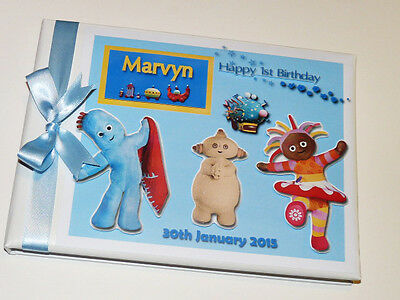 Personalised In The Night Garden Boy/ 1St Birthday Guest Book Any Design