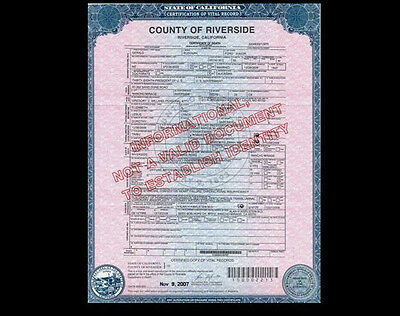 President Gerald Ford DEATH CERTIFICATE, 38th President, Died California